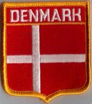 Denmark Embroidered Flag Patch, style 06.